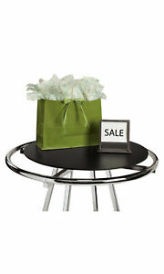 Rack Topper Wood Round Clothing 30 For 36 Rack Black Ivory Cherry Glass Basket