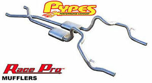 Pypes 70 F X Body Dual Exhaust System 2 5 X pipe Stainless Race Pro Mufflers