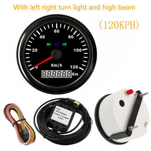 Universal 85mm 3 3 8 Gps Speedo 120kph Odometer With Light Red Led Cars Marine