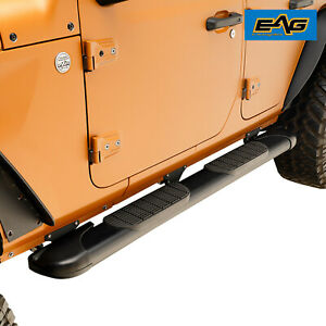 Eag Oval Running Board 70 x6 With Bracket Fit For 18 19 Jeep Wrangler Jl 4 Door