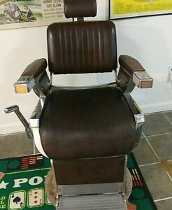 Vintage Belmont Barber Chair Circa 1950 S Game Room Man Cave Bar