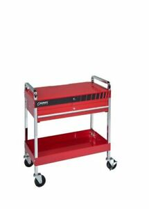 Sunex 8013a Service Cart With Locking Top And Locking Drawer Red