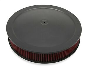 Holley 120 4630 4500 Drop Base Air Cleaner Black W 3 Red Washable Gauze Filter