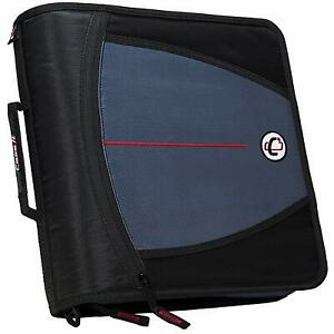 Case it 3 inch Zipper Binder O rings 5 color Tabbed Mighty Zip Tab Handle Office