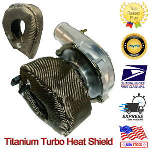 Turbo Heat Shield Blanket Titanium Lava Fiber T3 Turbocharger Cover Wrap Gt30