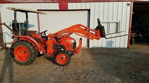 Kubota L3800 Dt 4wd Tractor loader With 5 Implements