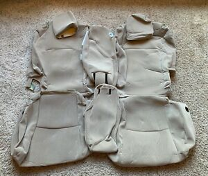 2008 Toyota Highlander Sport 2nd And 3rd Row Oem Cloth Seat Covers Tan
