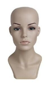 Female Plastic Mannequin Flesh Tone Head Height 13 Head 21 Wigs Hats Scarves