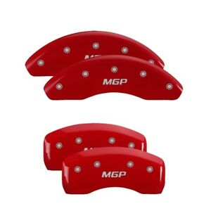 Mgp Caliper Covers Engraved Front Rear For 2006 10 Mazda Mx 5 Miata Red