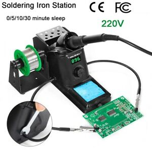220v 60w Smd Rework Soldering Iron Station Kit Desoldering Repair Stand Esd Safe