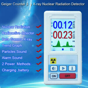 Digital Lcd Nuclear Radiation Detector Gamma Beta X Ray Tester Geiger Counter Ca