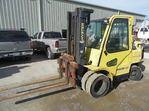 Forklift Hyster H 80 Xm With Cab Rotary Attachment