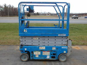 Genie Gs1930 19 Electric Slab Scissor Lift 19ft Platform Lift Man Lift