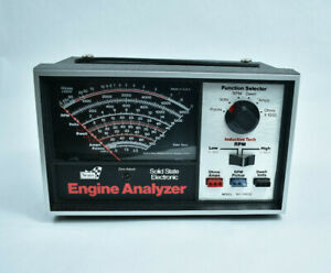 Sears Solid State Engine Analyzer 2821423 With Accessories And Instructions