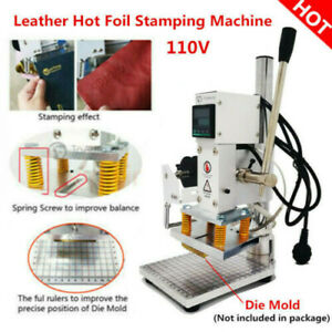 10 13cm Digital Hot Foil Stamping Machine Holder Leather Pvc Logo Embossing 110v