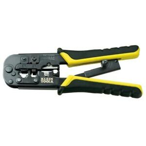 Klein Tools Ratcheting Modular Crimper Stripper Cutter Phone Cable 7 1 2 Inch