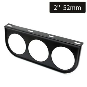 2 52mm Universal Triple Gauge Pod Steel 3 Hole Car Meter Mount Holder Bracket