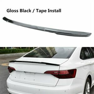 Painted Black Rear Spoiler Lip Wing Blade Style Fit For Vw Jetta 2019 2021 Sedan