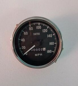 Classic Smiths 85 Mm Mechanical Speedometer Replica 180 Mph 3 3 8 Clock Wise