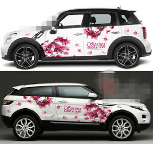 Cherry Blossoms Sakura Flower Car Door Graphics Vinyl Stickers Decal Both Sides