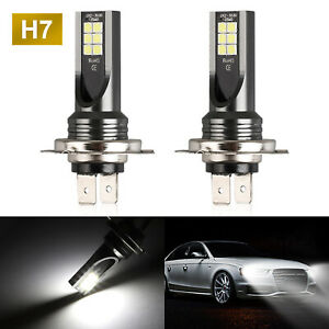 2pcs Csp H7 6000k Super White 7000lm Cree Led Headlight Bulbs Kit High Low Beam