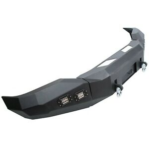 For 2007 2013 Toyota Tundra Front Bumper Steel Winch Ready Black Powder