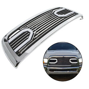 Big Horn Chrome Grille Replacement Shell Lights For 2010 2018 Dodge Ram 2500