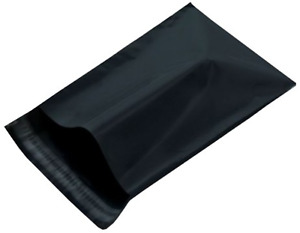 400 Bags 14 5x19 Black Poly Mailer Large Plastic Shipping Bag 7 14 5 X 19