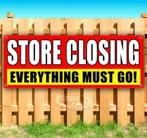 Store Closing Sale Advertising Vinyl Banner Flag Sign Many Sizes Available Deals