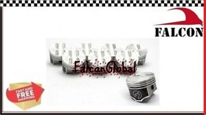 Chevy 327 Forged Flat Top 4vr Coated Skirt Pistons Set 8 030 Camaro
