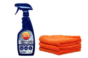 303 Touchless Spray Sealant Paint Protection And 3 Ultra Plush Microfiber Towels