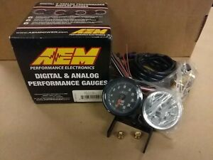 closeout Aem Analog Turbo Boost Gauge Meter 35psi