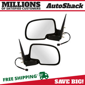 Power Heated Puddle Light Side View Mirrors Pair For 2003 2006 Cadillac Escalade