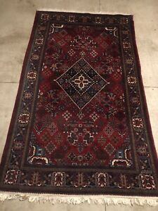 Authentic Hand Knotted Vintage Persian Wool Area Rug 8 X 5ft