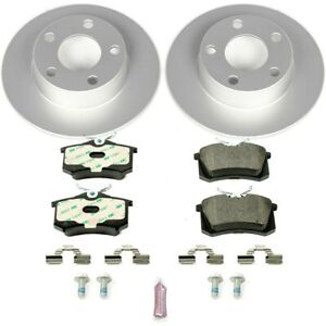 Esk4845 Powerstop Brake Disc And Pad Kits 2 wheel Set Rear New For A6 Quattro