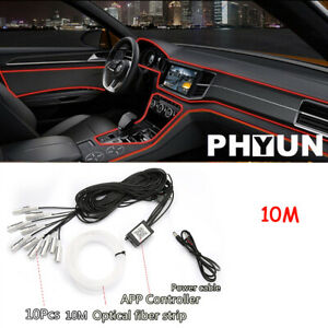10m Car Styling Atmosphere Lamps Floor Foot Interior Light Bluetooth App Control