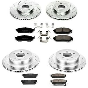 K4313 Powerstop Brake Disc And Pad Kits 4 wheel Set Front Rear New For Q45 M45