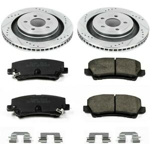 K6812 Powerstop 2 wheel Set Brake Disc And Pad Kits Rear New For Ford Mustang