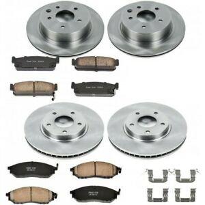 Koe4313 Powerstop 4 wheel Set Brake Disc And Pad Kits Front Rear New For Q45