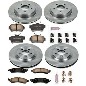 Koe1305 Powerstop Brake Disc And Pad Kits 4 Wheel Set Front Rear New For Ford