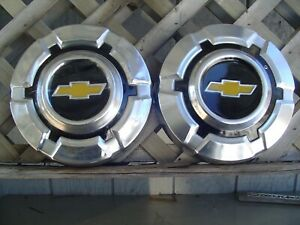 2 Vintage Gmc Jimmy Chevrolet Pickup Truck Blazer Hubcaps Wheel Covers 1 2 Ton