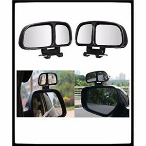 Vehicle Car Blind Spot Mirrors Angle Rear Side View Color Black 2 Piece New