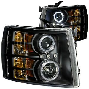 111107 Anzo Headlight Lamp Driver Passenger Side New For Chevy Lh Rh Chevrolet