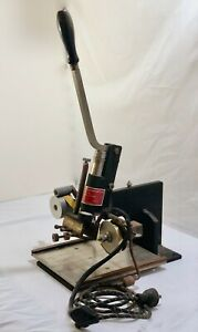 Vintage Hot Foil Leather Stamping Embossing Machine With Foil Electromark 30