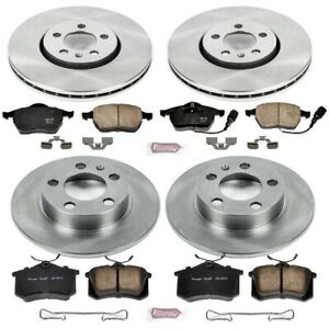 Koe899 Powerstop 4 wheel Set Brake Disc And Pad Kits Front Rear New For Vw