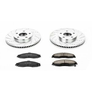 K1547 Powerstop 2 Wheel Set Brake Disc And Pad Kits Front New For Chevy Camaro