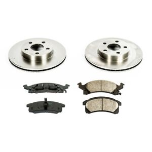 Koe3156 Powerstop Brake Disc And Pad Kits 2 Wheel Set Front New For Chevy Olds