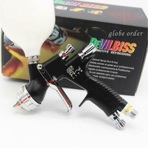 Devilbiss Black Gti Pro Lite Te20 1 3mm Nozzle Car Paint Tool Spray Gun Set
