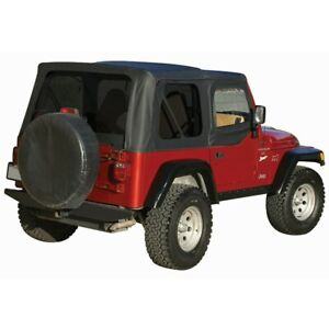 99535 Rt10335t Rt Off road Soft Top New Black For Jeep Wrangler 1997 2006
