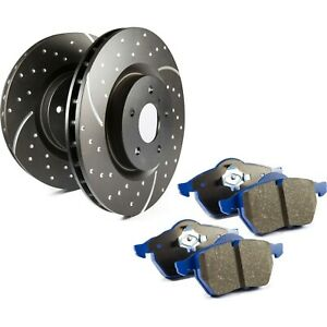 S6kf1072 Ebc Brake Disc And Pad Kits 2 wheel Set Front New For Ford Mustang